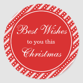 Red & White Christmas Holiday Gift Tag Stickers