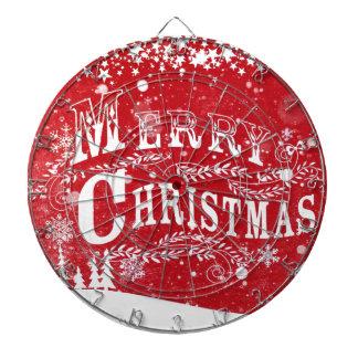Red White Christmas Setting Dartboard