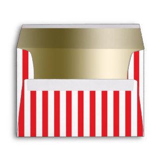 Red & White Circus Stripes Invitation Envelope
