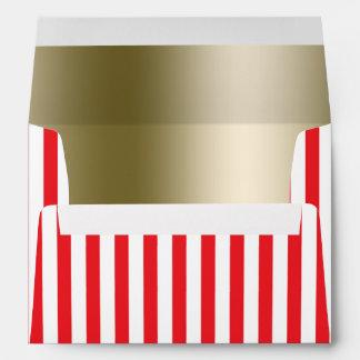 Red & White Circus Stripes Invitation Envelope