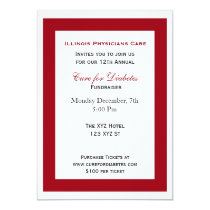 red white classy Corporate party Invitation