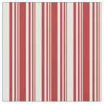 [ Thumbnail: Red & White Colored Pattern Fabric ]