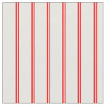 [ Thumbnail: Red & White Colored Stripes Fabric ]