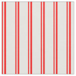 [ Thumbnail: Red & White Colored Stripes/Lines Pattern Fabric ]