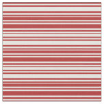 [ Thumbnail: Red & White Colored Stripes Pattern Fabric ]