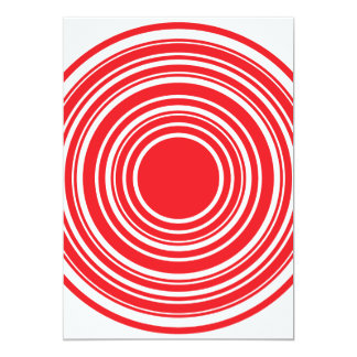 Red White Concentric Circles Bulls Eye Design Card