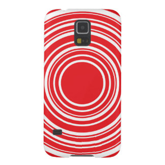 Red White Concentric Circles Bulls Eye Design Case For Galaxy S5