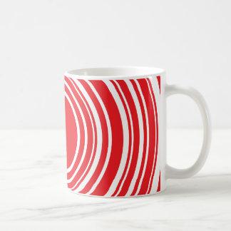 Red White Concentric Circles Bulls Eye Design Coffee Mug