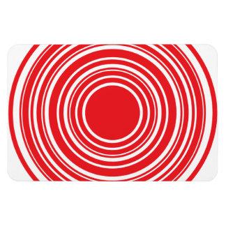 Red White Concentric Circles Bulls Eye Design Magnet