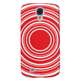Red White Concentric Circles Bulls Eye Design Samsung Galaxy S4 Cover
