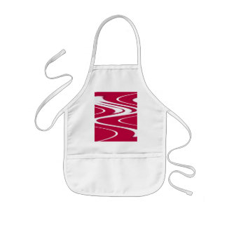Red White Curvy Kids Apron