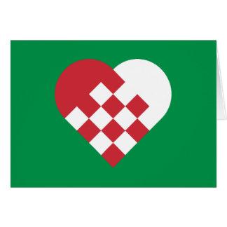 Red White Danish Heart Cards