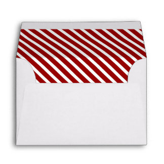 Red And White Diagonal Stripes Cards | Zazzle