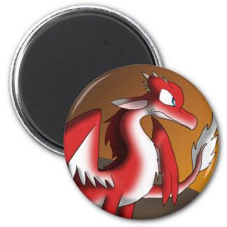 Red/White Dragon Magnet