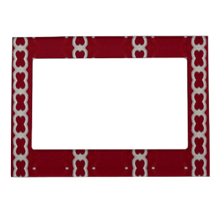 Red White Embroidery Fabric Look Photo Frame