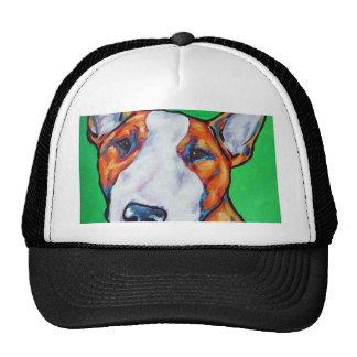 Red white English Bull Terrier Mesh Hats
