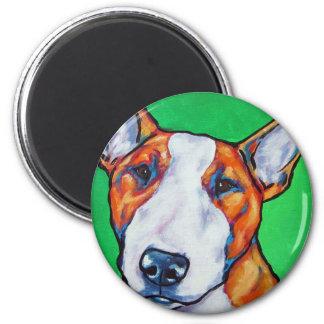 Red/white English Bull Terrier Refrigerator Magnet