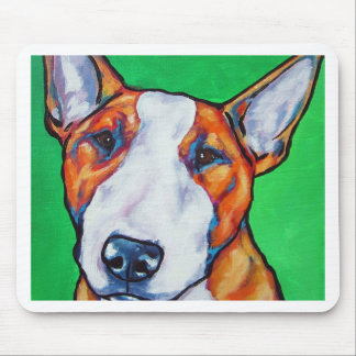 Red/white English Bull Terrier Mouse Pad