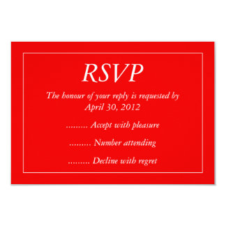 Red & White Event Reply, RSVP or Response Cards Invitation