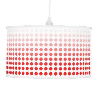 Red & White Fade Polka Dot Pendant Lamp