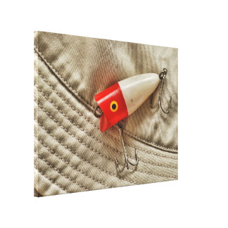 Red & White Fishing Lure Canvas Print