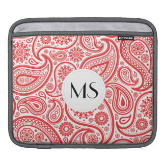 Red White Floral Paisley Pattern iPad Sleeve
