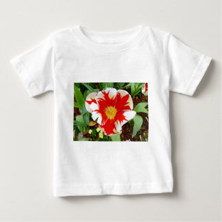 Red & White Flowers Baby T-Shirt