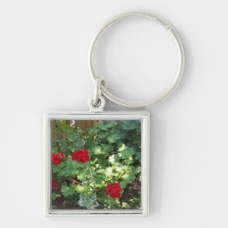 Red & White Flowers Keychain