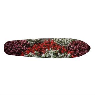 Red White Flowers Skateboard Deck