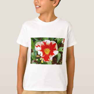 Red & White Flowers T-Shirt