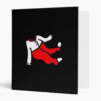 red & white footy PJ's 3 Ring Binder