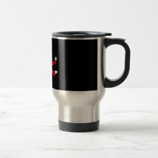 red & white footy PJ's Mugs
