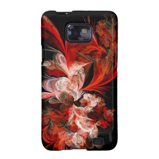 Red & White Fractal Galaxy S2 Case