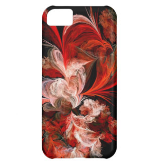 Red & White Fractal iPhone 5C Covers
