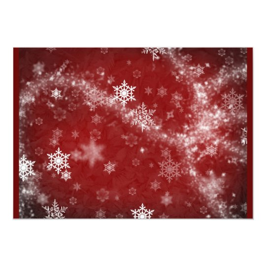 RED WHITE FROST SNOWFLAKES WINTER SWIRLS SNOW DIGI CARD