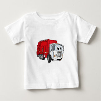 Red White Garbage Truck Cartoon Shirt