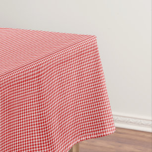 Red White Gingham 52 X 70 COTTON TABLE CLOTH