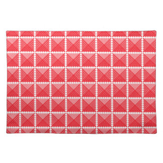 Red & White Gingham Like Placemat