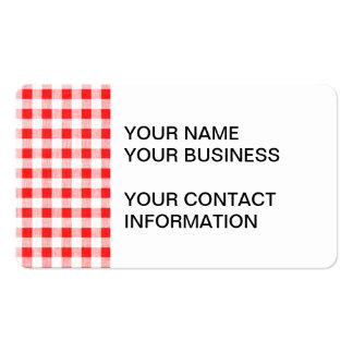 Red White Gingham Pattern Business Card