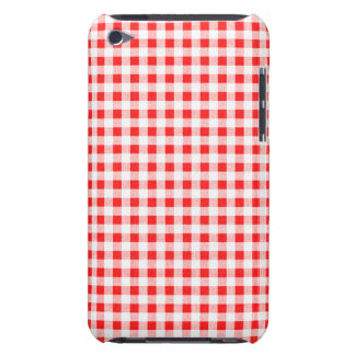 Red White Gingham Pattern Barely There iPod Covers