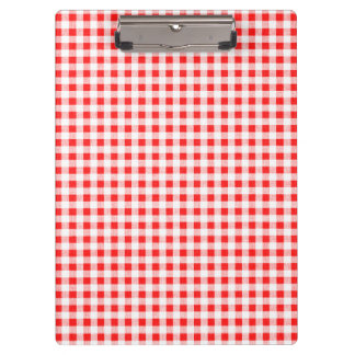 Red White Gingham Pattern Clipboard