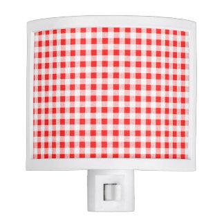 Red White Gingham Pattern Nite Lites