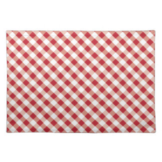 Red & White gingham pattern placemats
