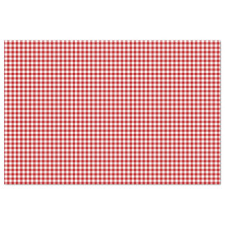 Red & White Gingham Pattern Tissue Paper