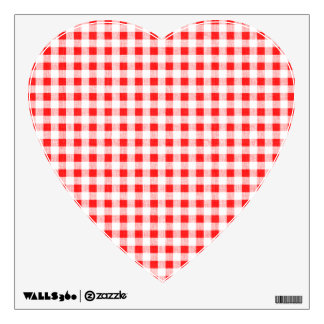 Red White Gingham Pattern Wall Decal