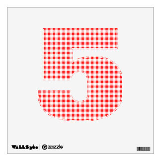 Red White Gingham Pattern Wall Sticker