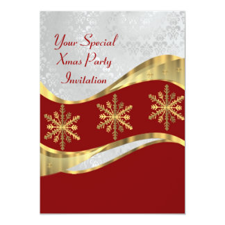 Red  white & gold Christmas Card