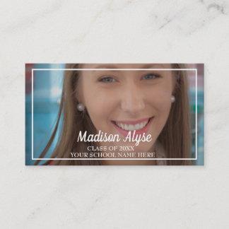 Red White Graduation Photo Profile Insert Card