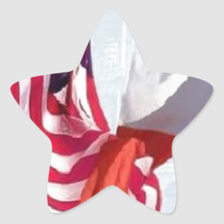 Red White Green and Blue Star Sticker