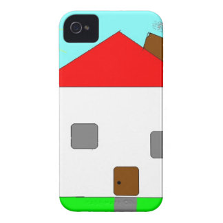 Red White Green Blue House Drawing, Art By Kids :) Case-Mate iPhone 4 Case